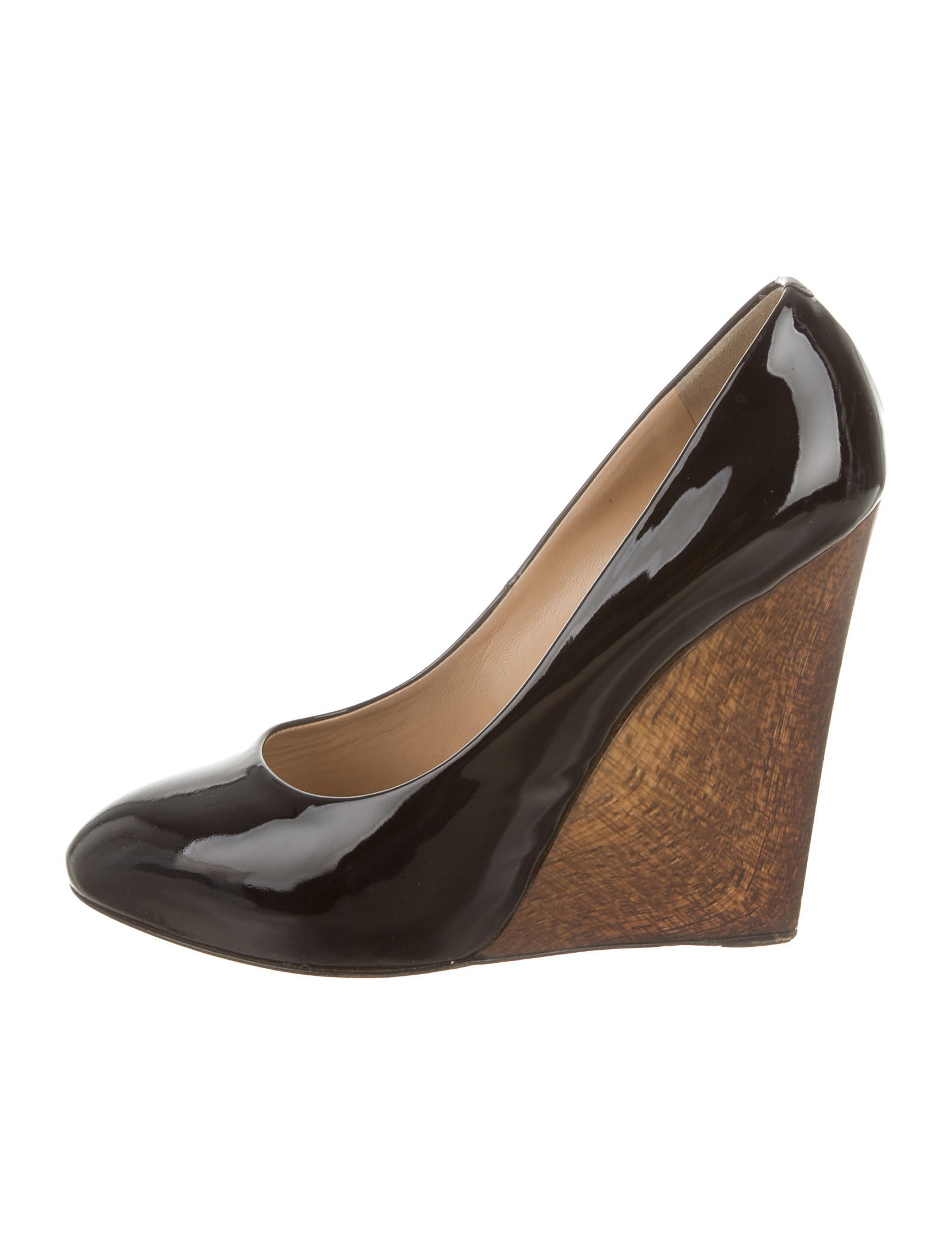 giuseppe zanotti patent leather pointed toe wedges shoes