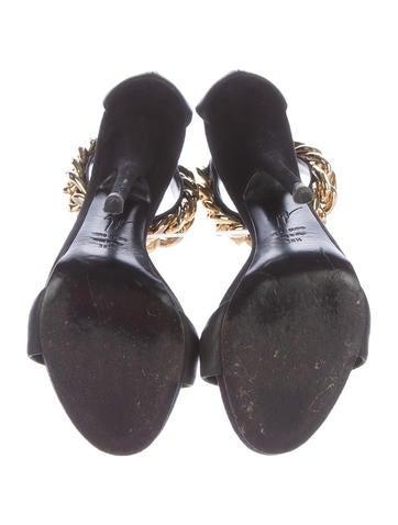 Chain-Link T-Strap Sandals