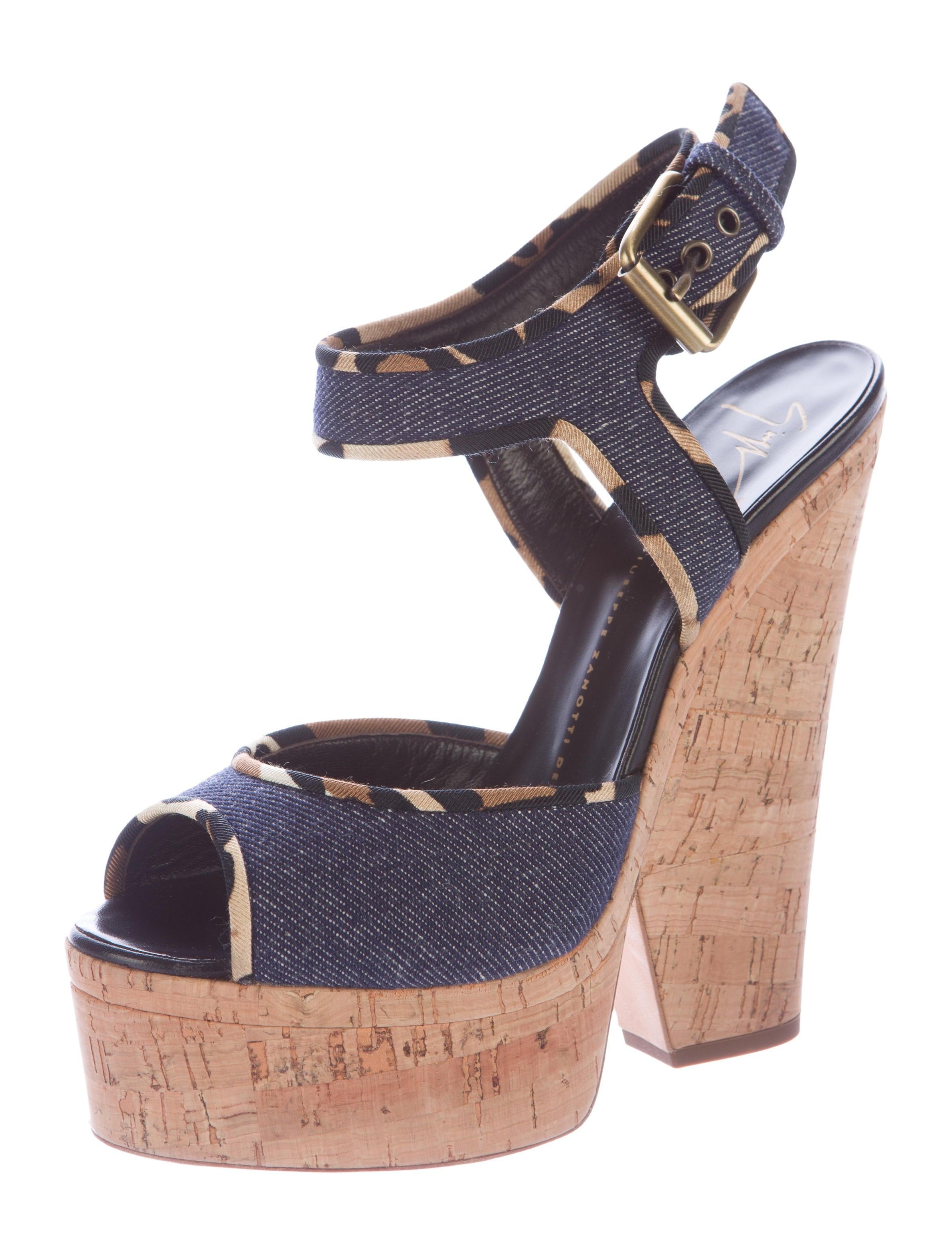 giuseppe zanotti denim platform sandals shoes giu32845