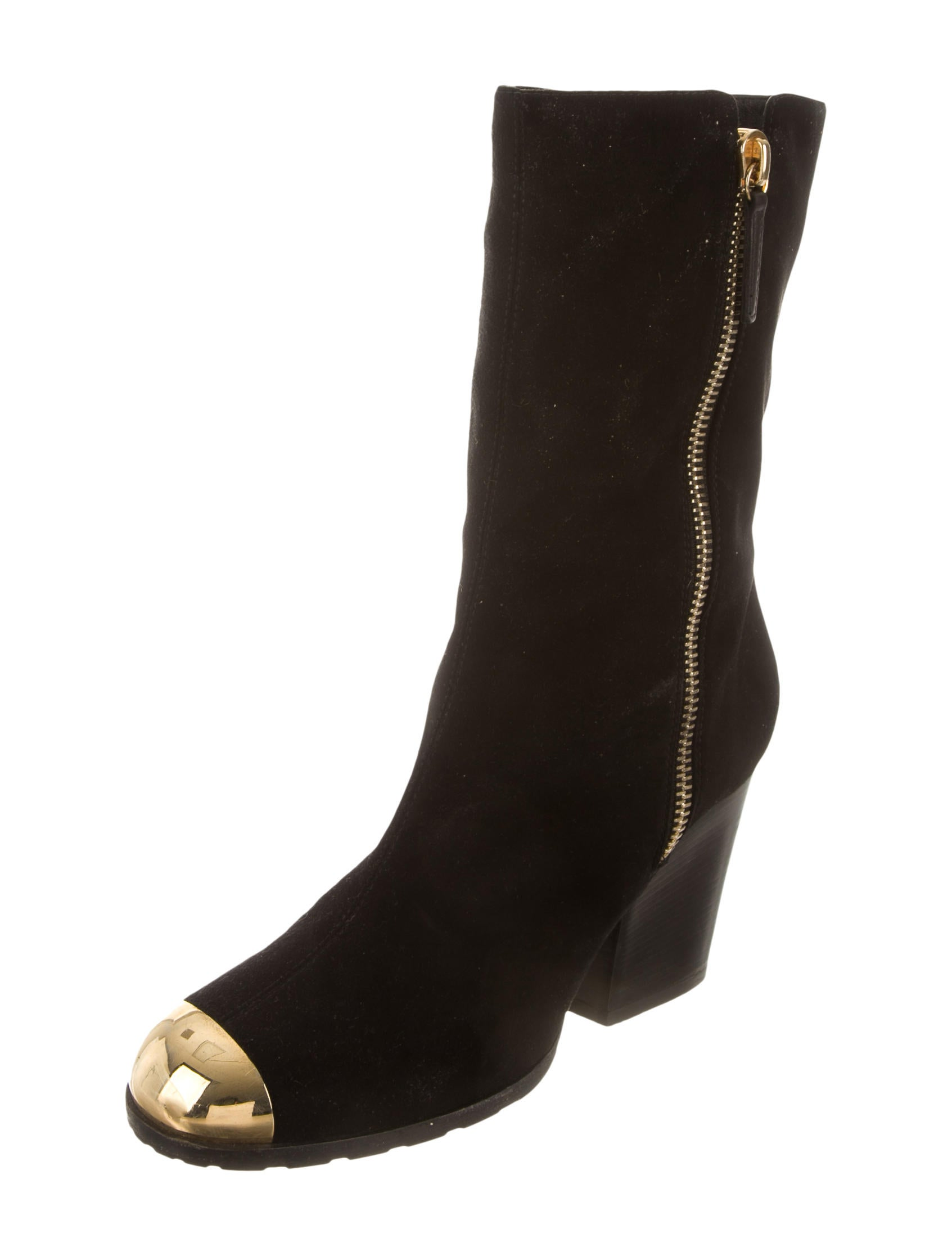 giuseppe zanotti suede cap toe ankle boots shoes