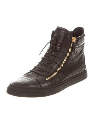 Embossed Double-Zip Sneakers