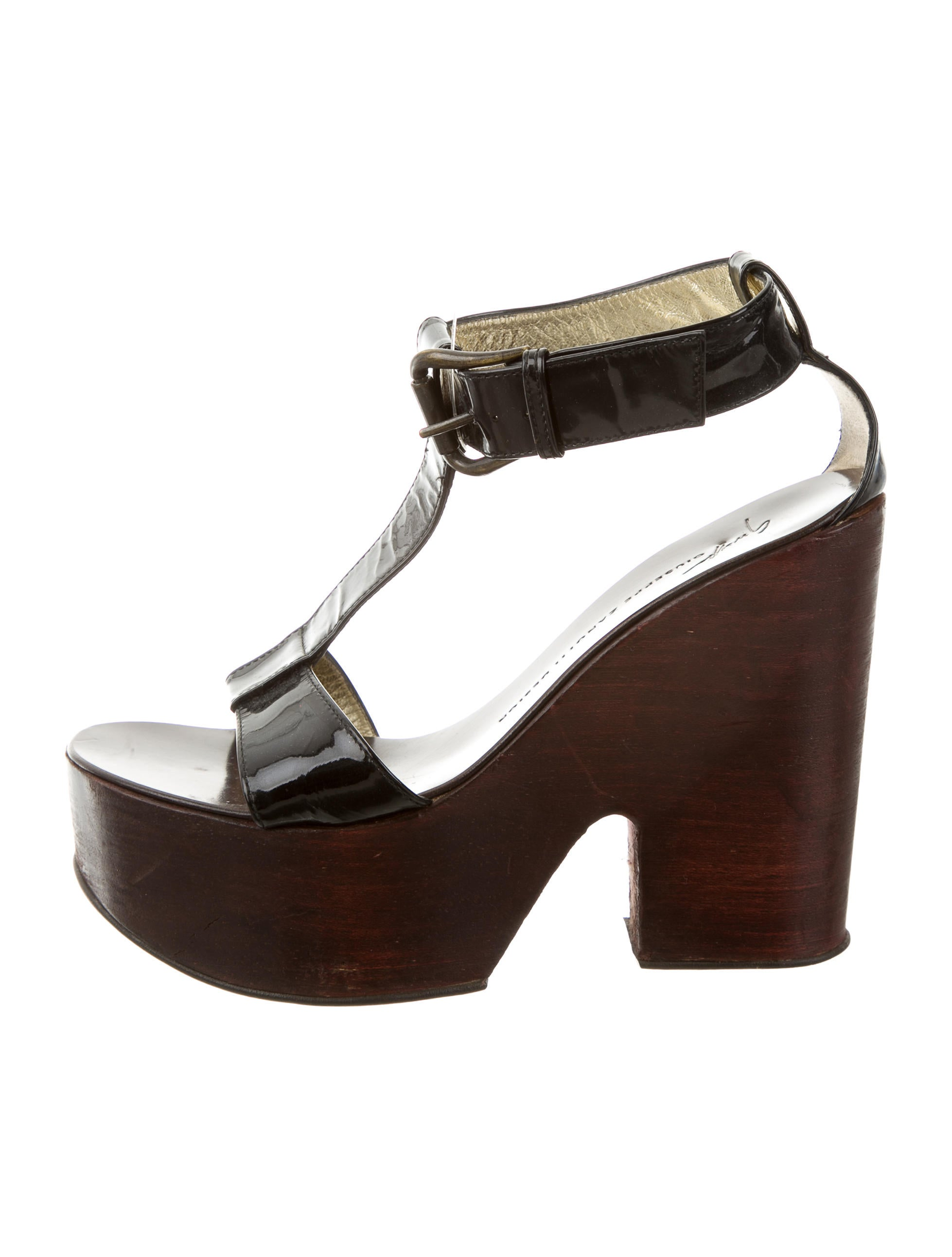 giuseppe zanotti patent leather platform sandals shoes