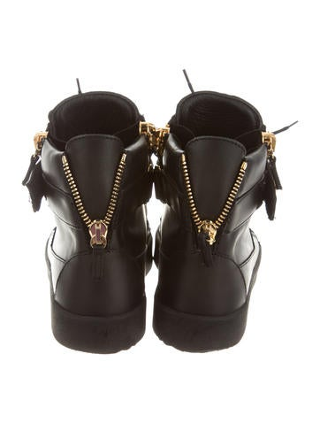 Studded Leather Sneakers