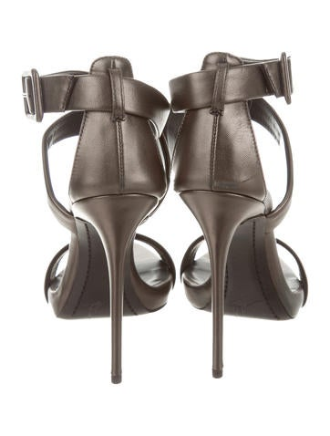 Satin Ankle Strap Sandals w/ Tags
