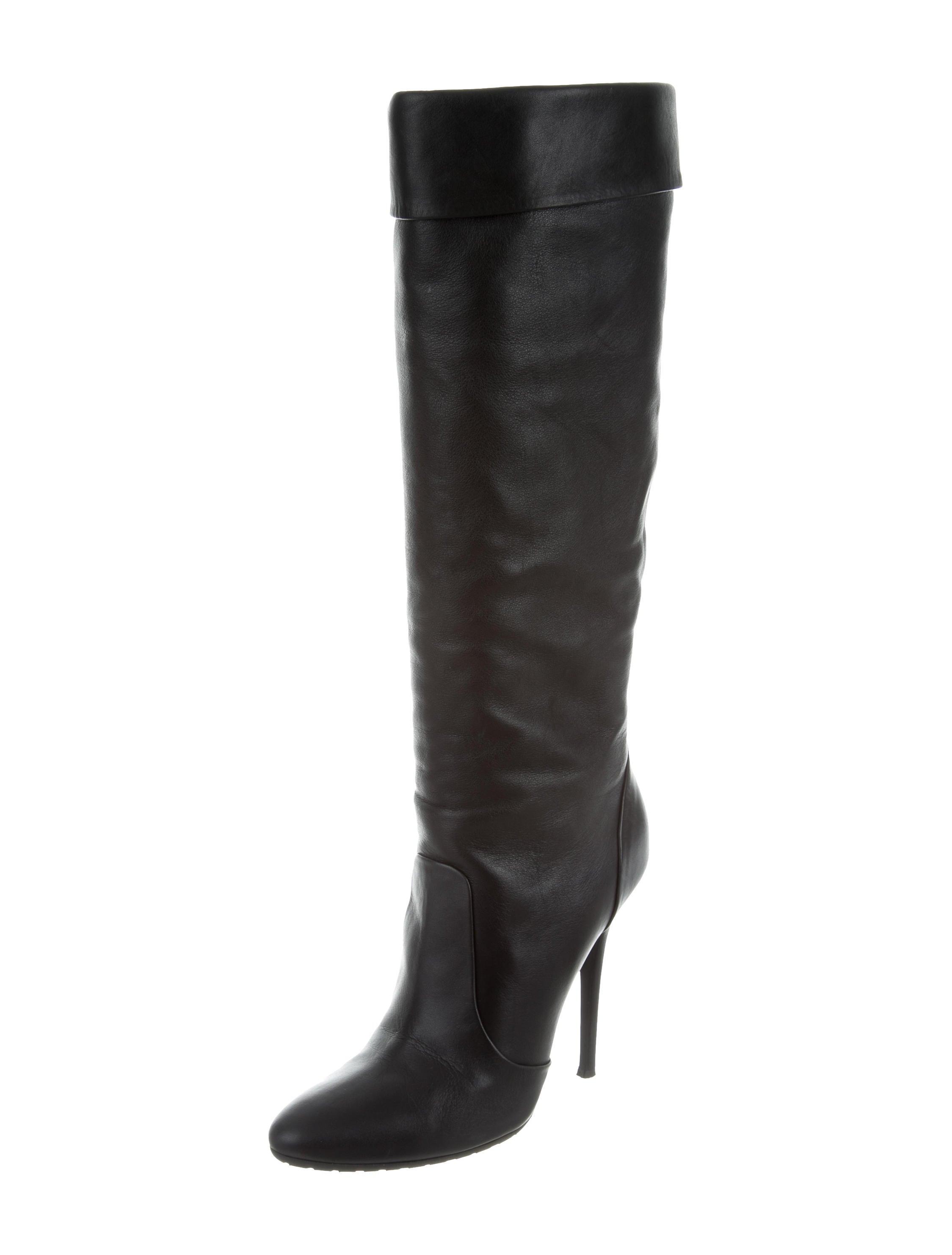 giuseppe zanotti leather knee high boots shoes