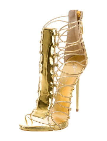 Metallic Cage Sandals w/ Tags