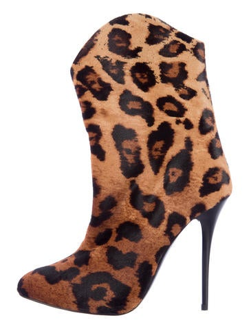 Giuseppe Zanotti Ponyhair Ankle Boots