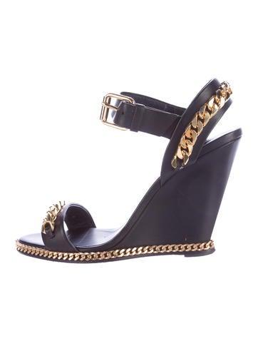 Giuseppe Zanotti Chain-Link Wedge Sandals None