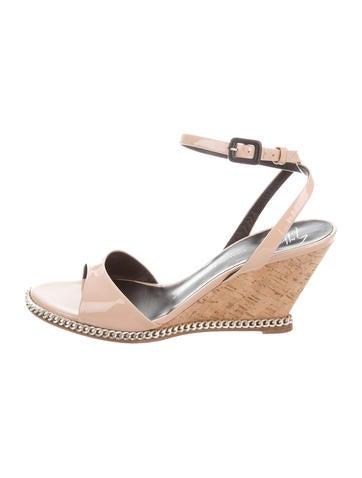 Giuseppe Zanotti Patent Leather Wedge Sandals None