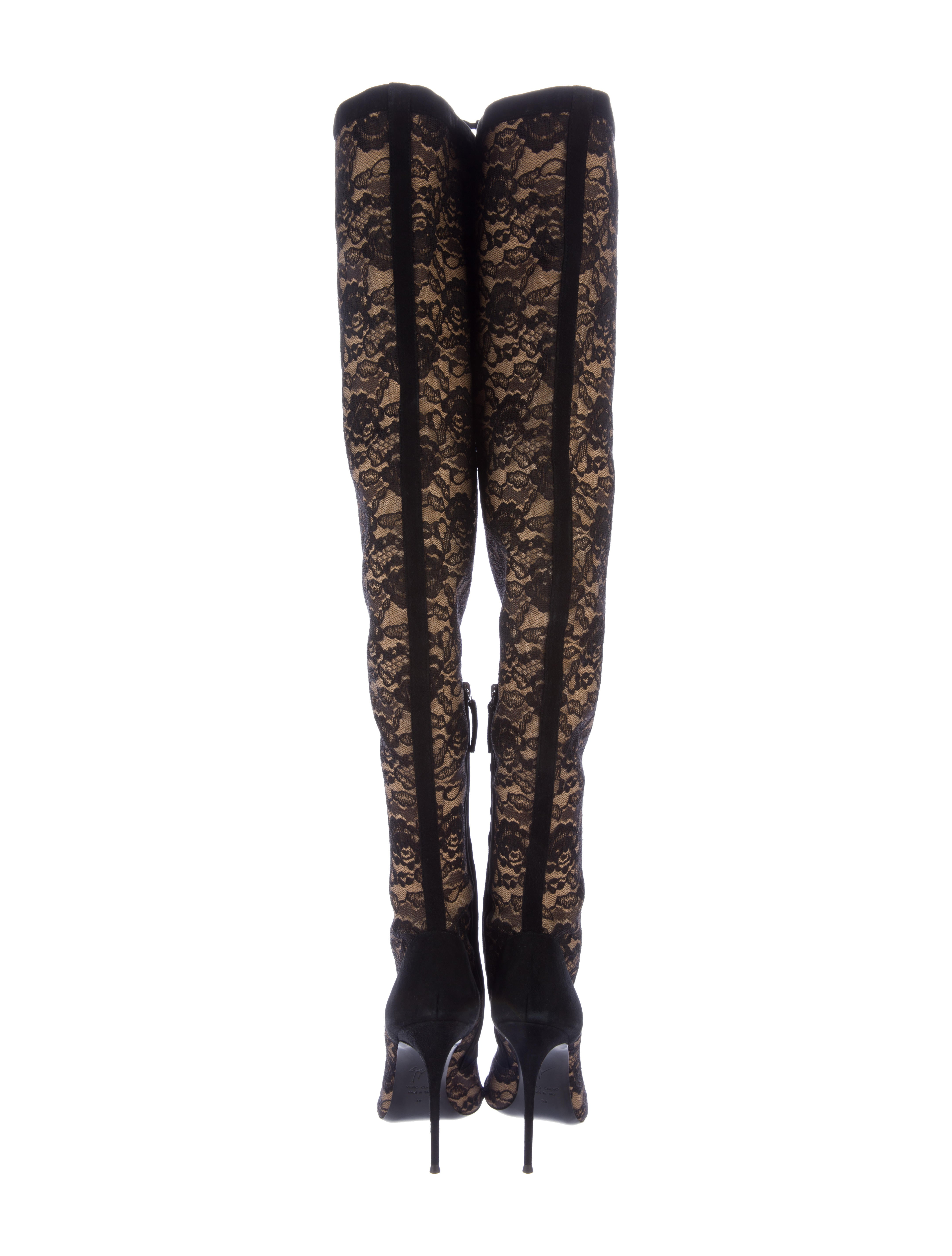 Giuseppe Zanotti Lace Thigh High Boots Shoes Giu34904