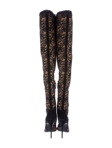 Giuseppe Zanotti Lace Thigh High Boots Shoes Giu34904