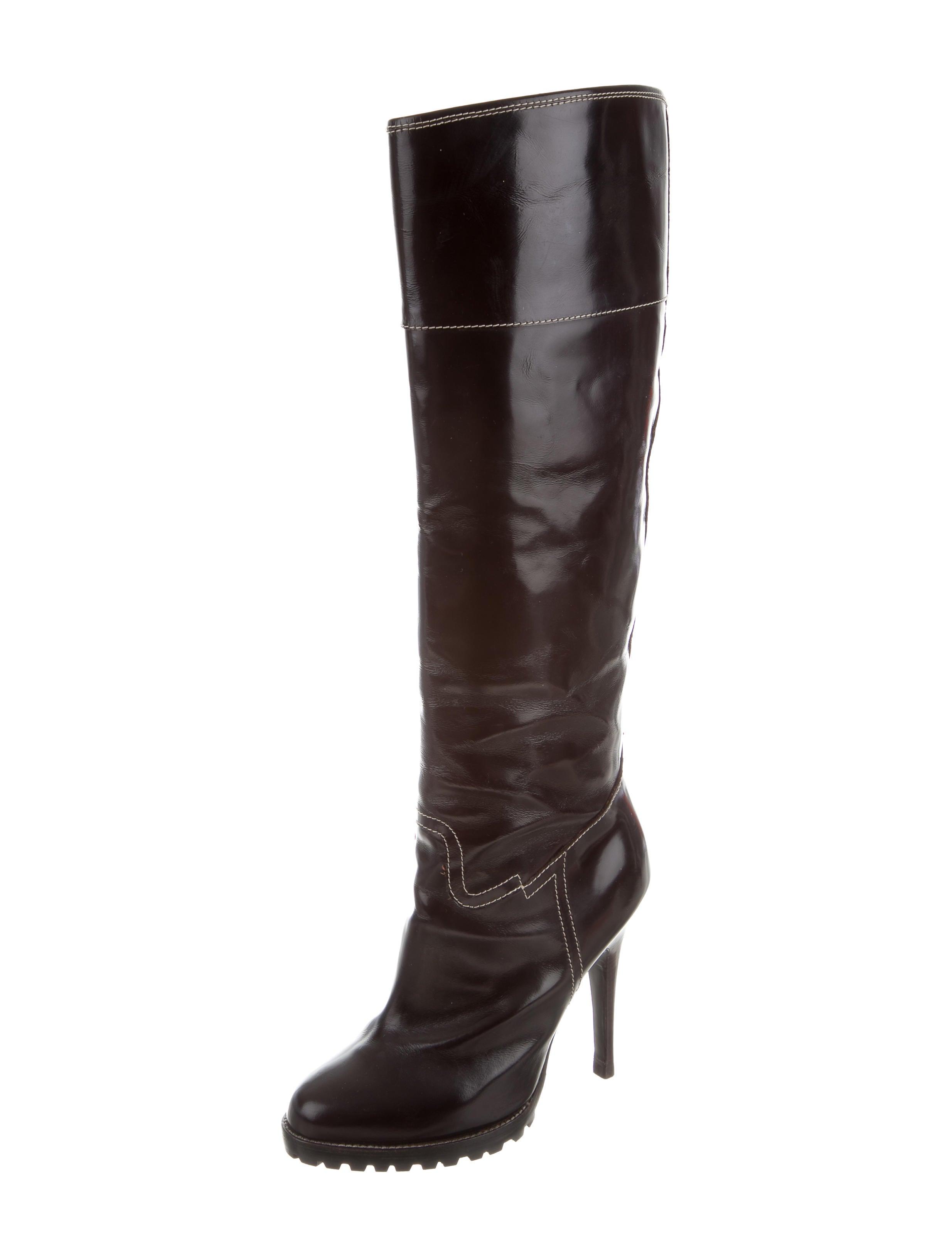 giuseppe zanotti patent knee high boots shoes giu35200