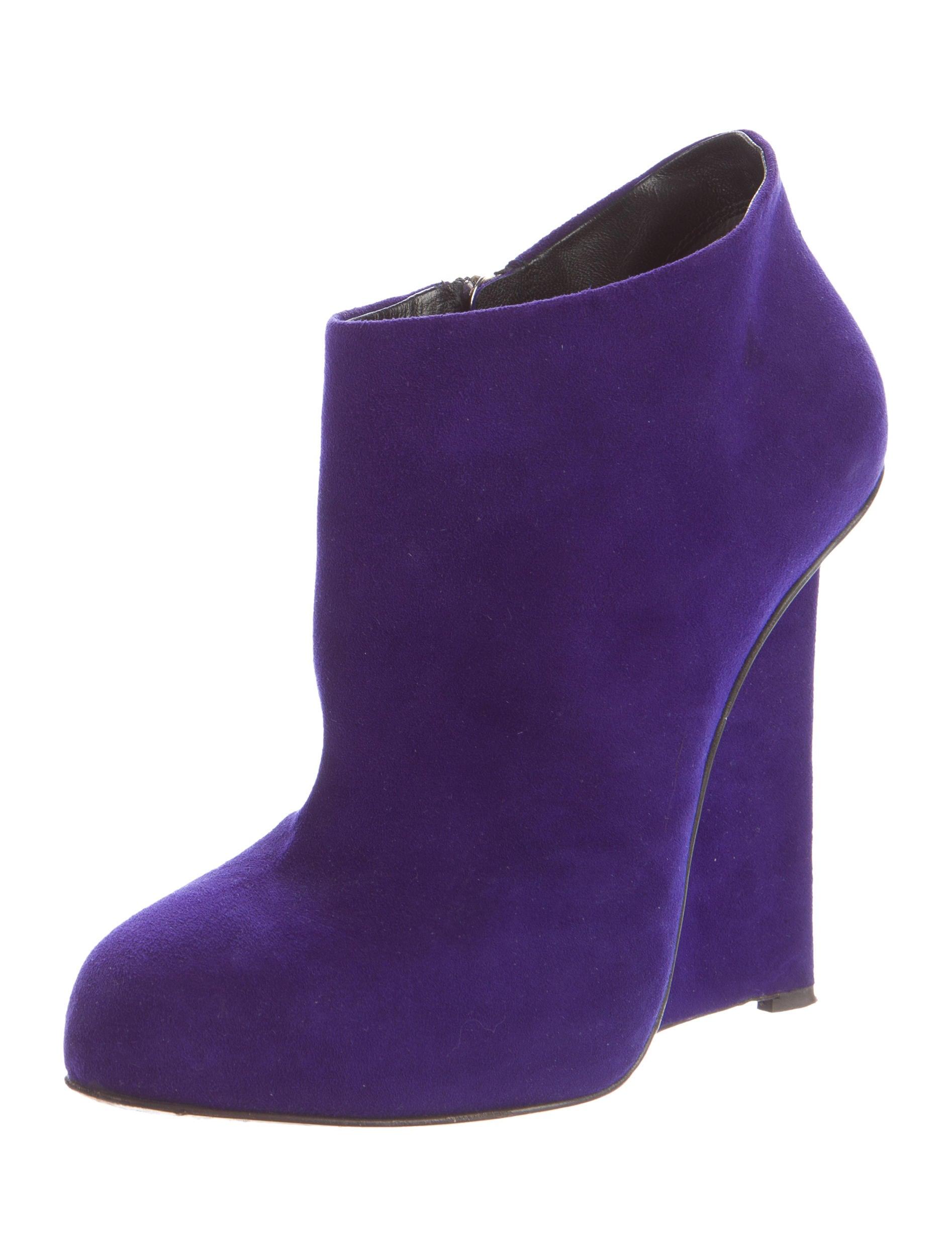 giuseppe zanotti suede wedge boots shoes giu35270