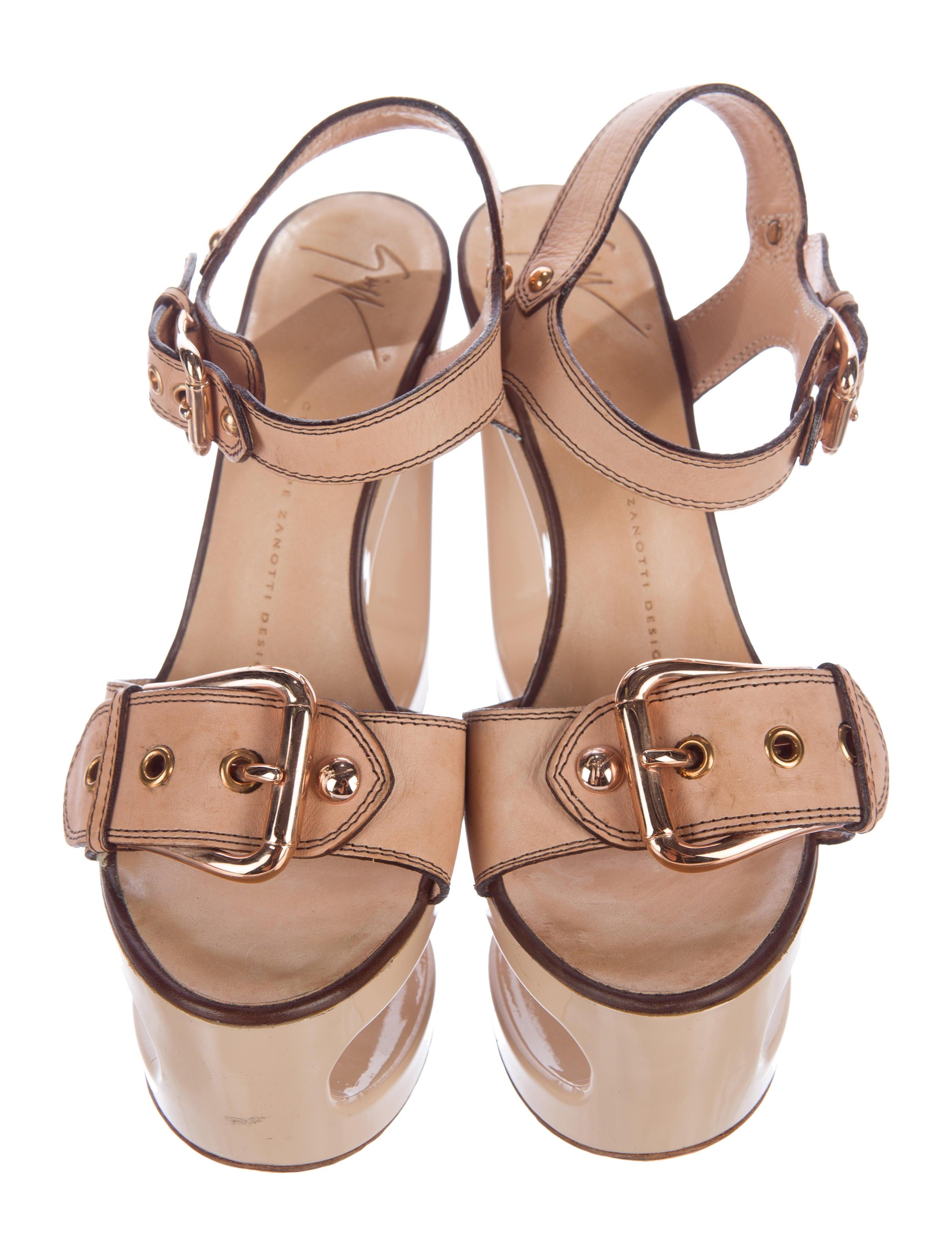 Giuseppe Zanotti Cutout Wedge Sandals - Shoes