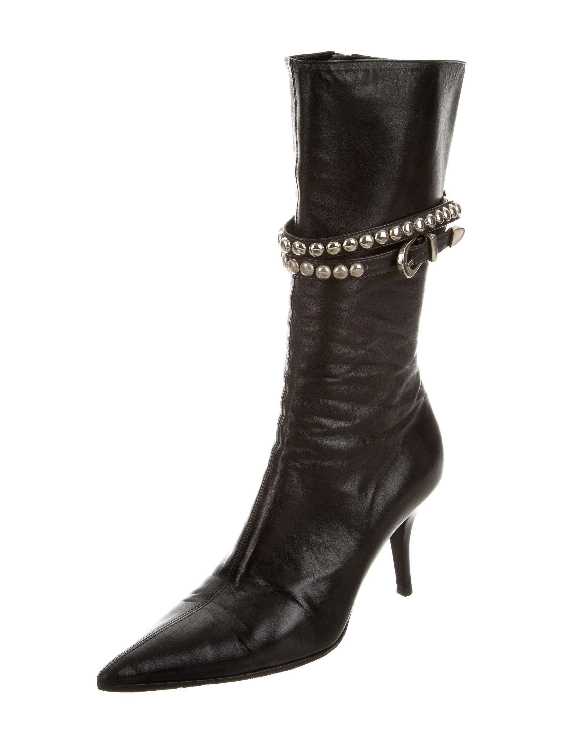 giuseppe zanotti leather mid calf boots shoes giu35633