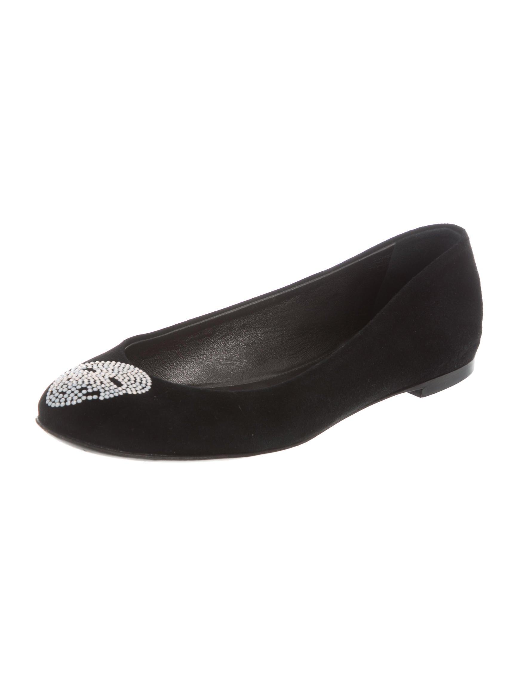 Giuseppe Zanotti Embellished Skull Flats - Shoes ...
