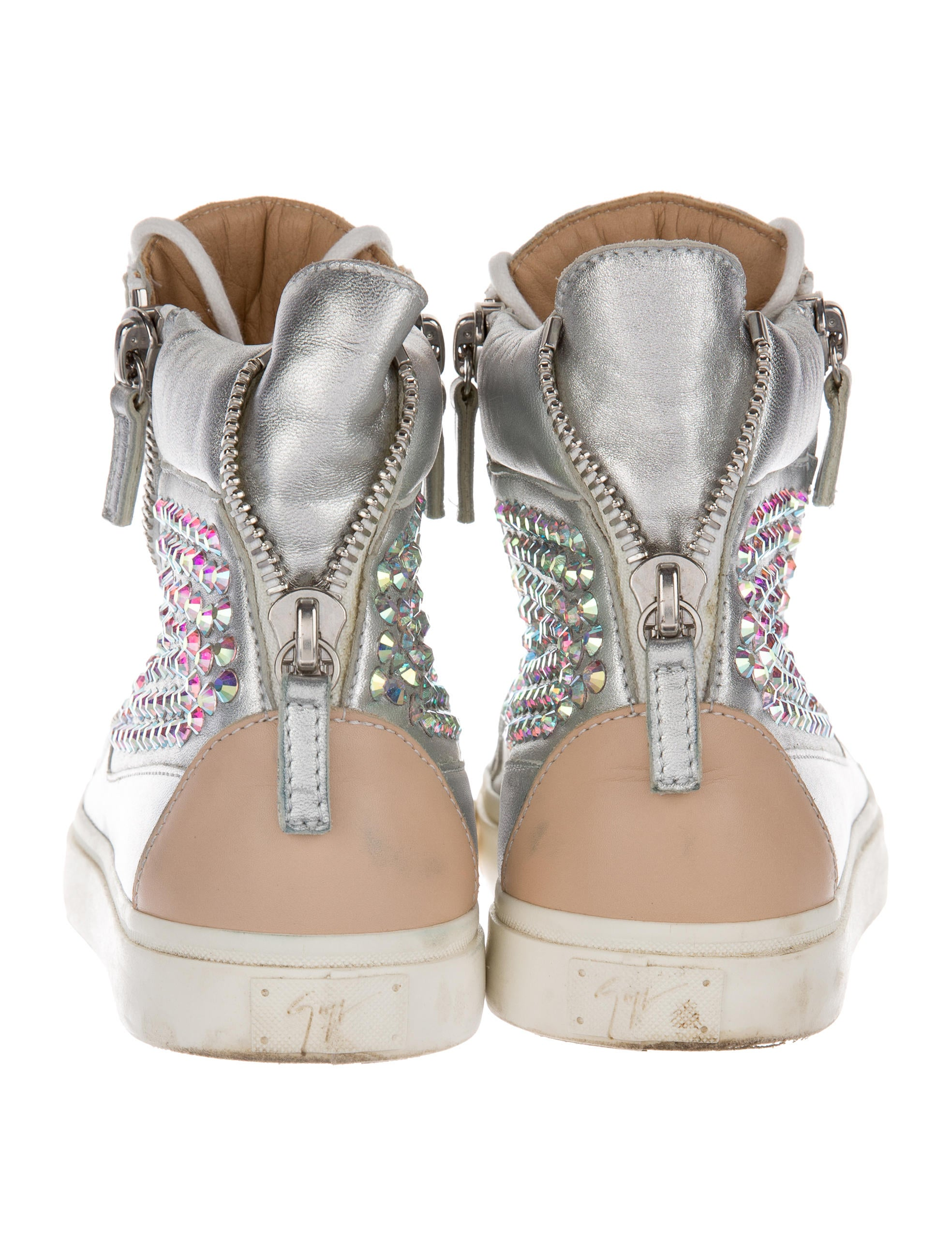 Giuseppe Zanotti Crystal Embellished High Top Sneakers