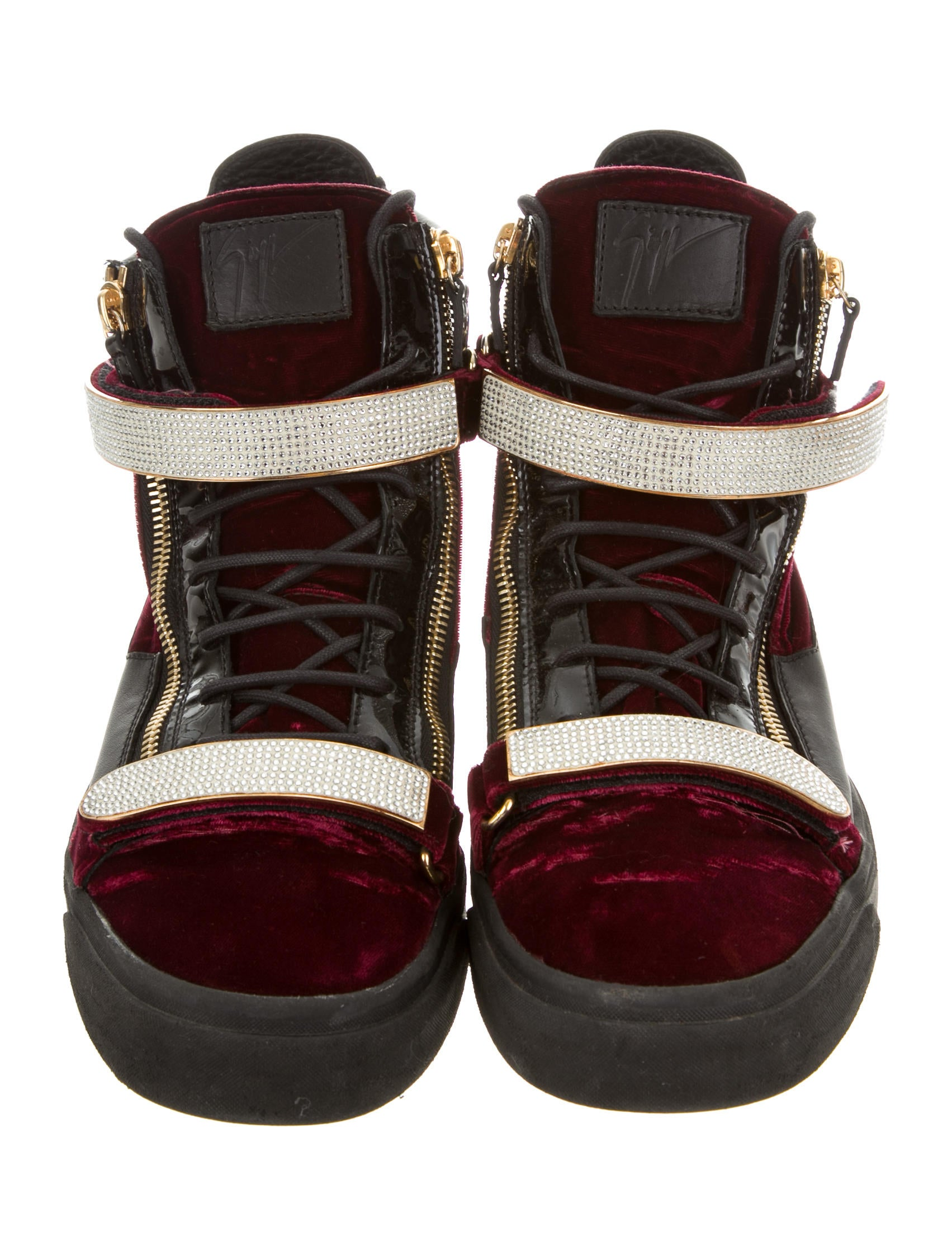 Giuseppe Zanotti Velvet High Top Sneakers Shoes