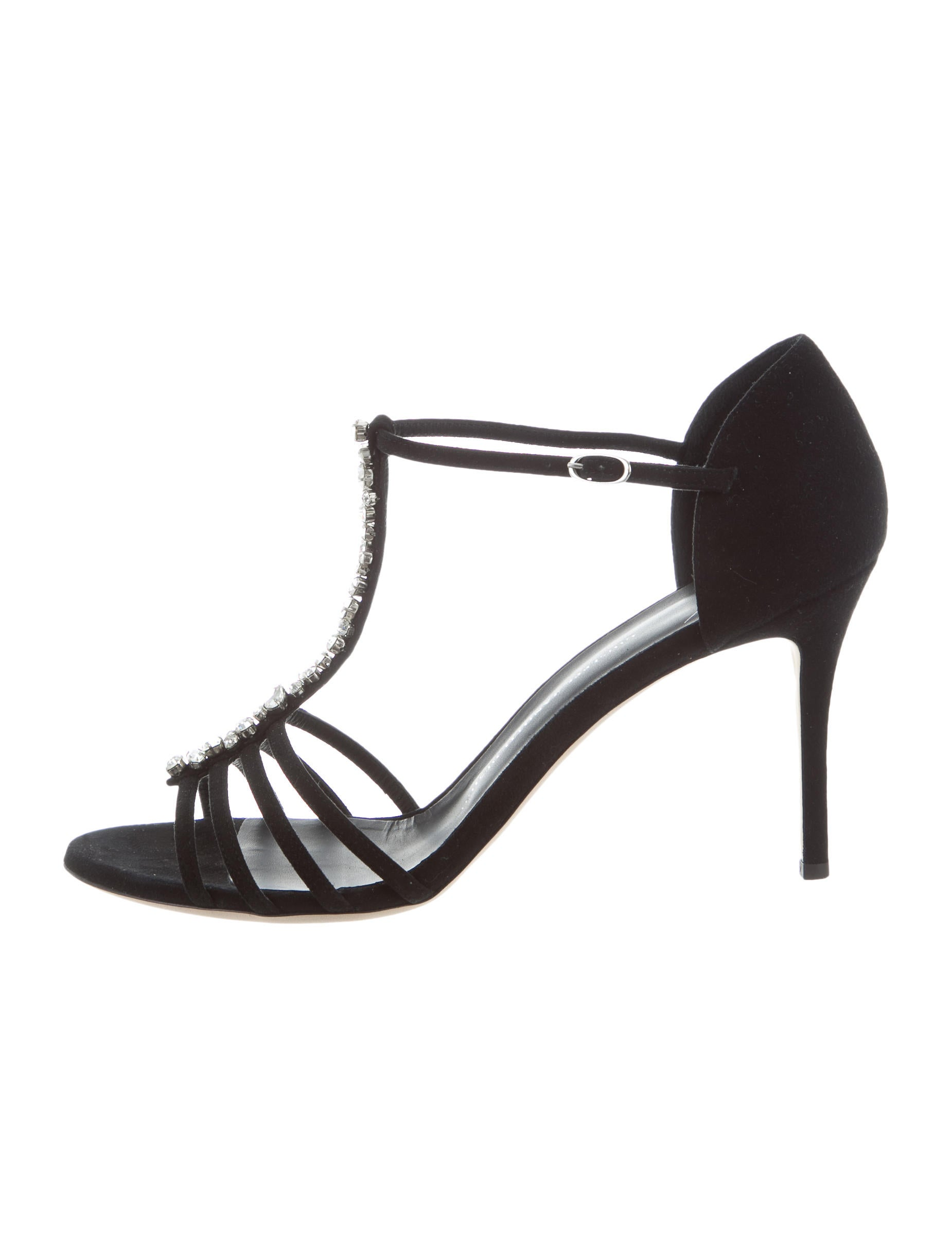 1390255641 Giuseppe Zanotti Embellished T-Strap Sandals - Shoes - GIU38988 ...