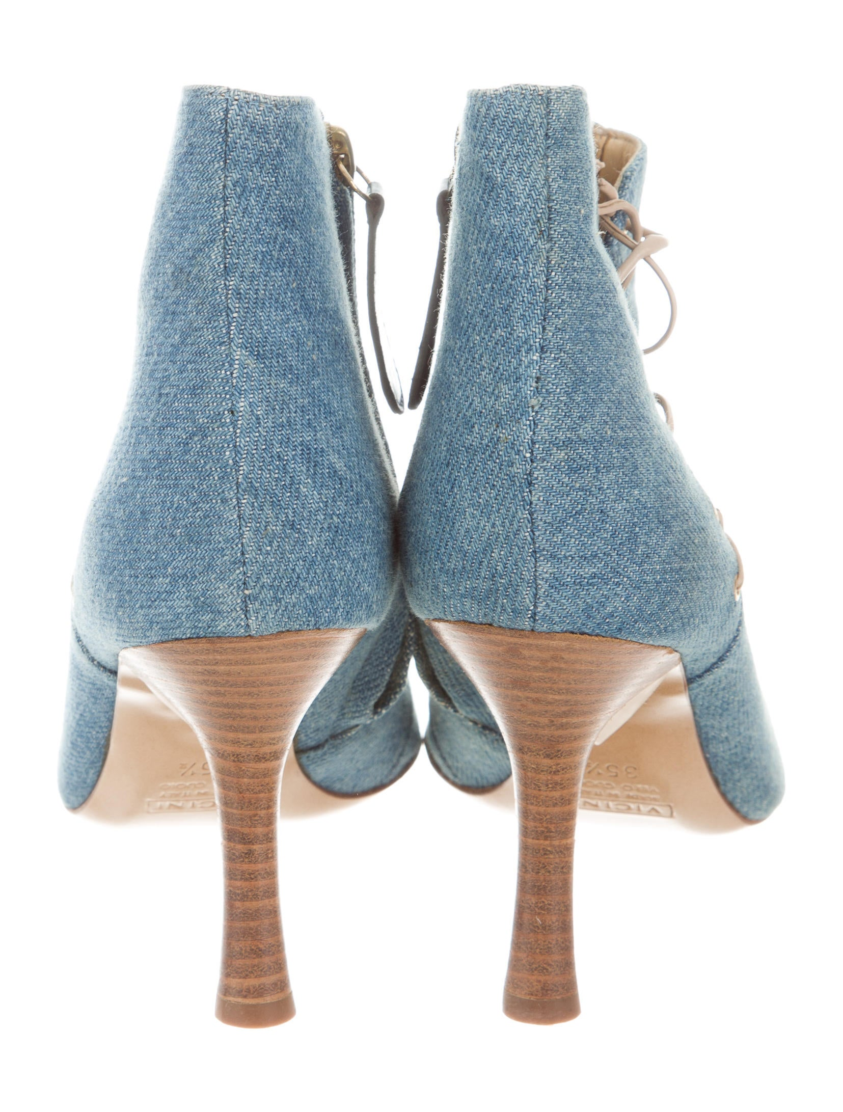 Giuseppe Zanotti Denim Ankle Boots Shoes Giu39266