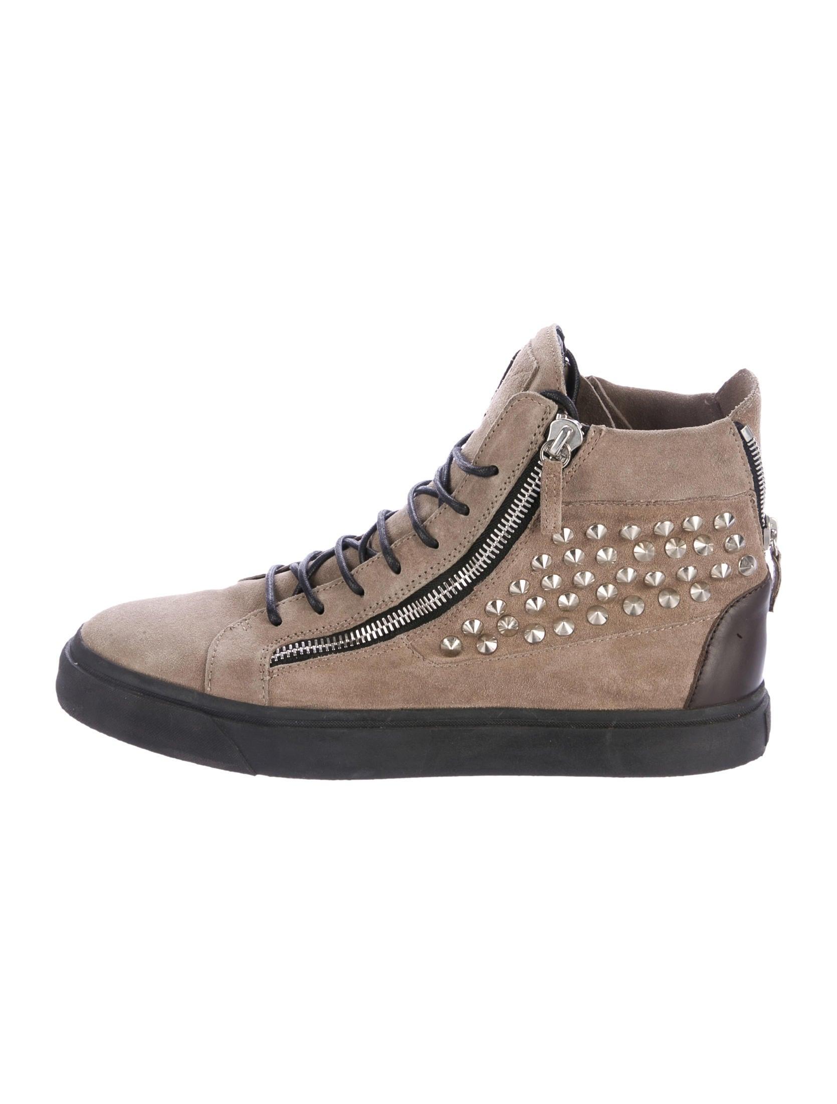Giuseppe Zanotti Suede Spiked Sneakers Shoes Giu39539