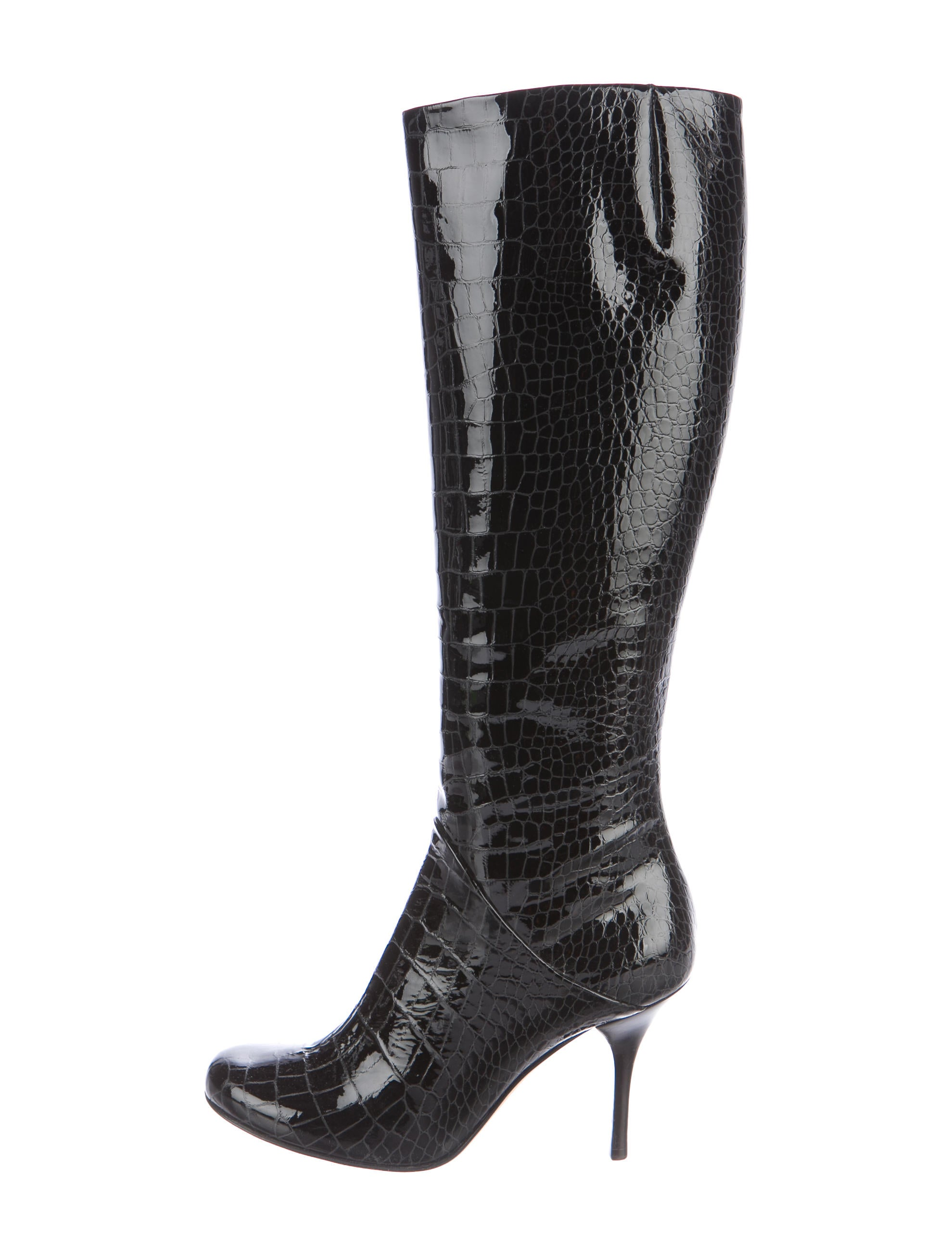giuseppe zanotti embossed knee high boots shoes
