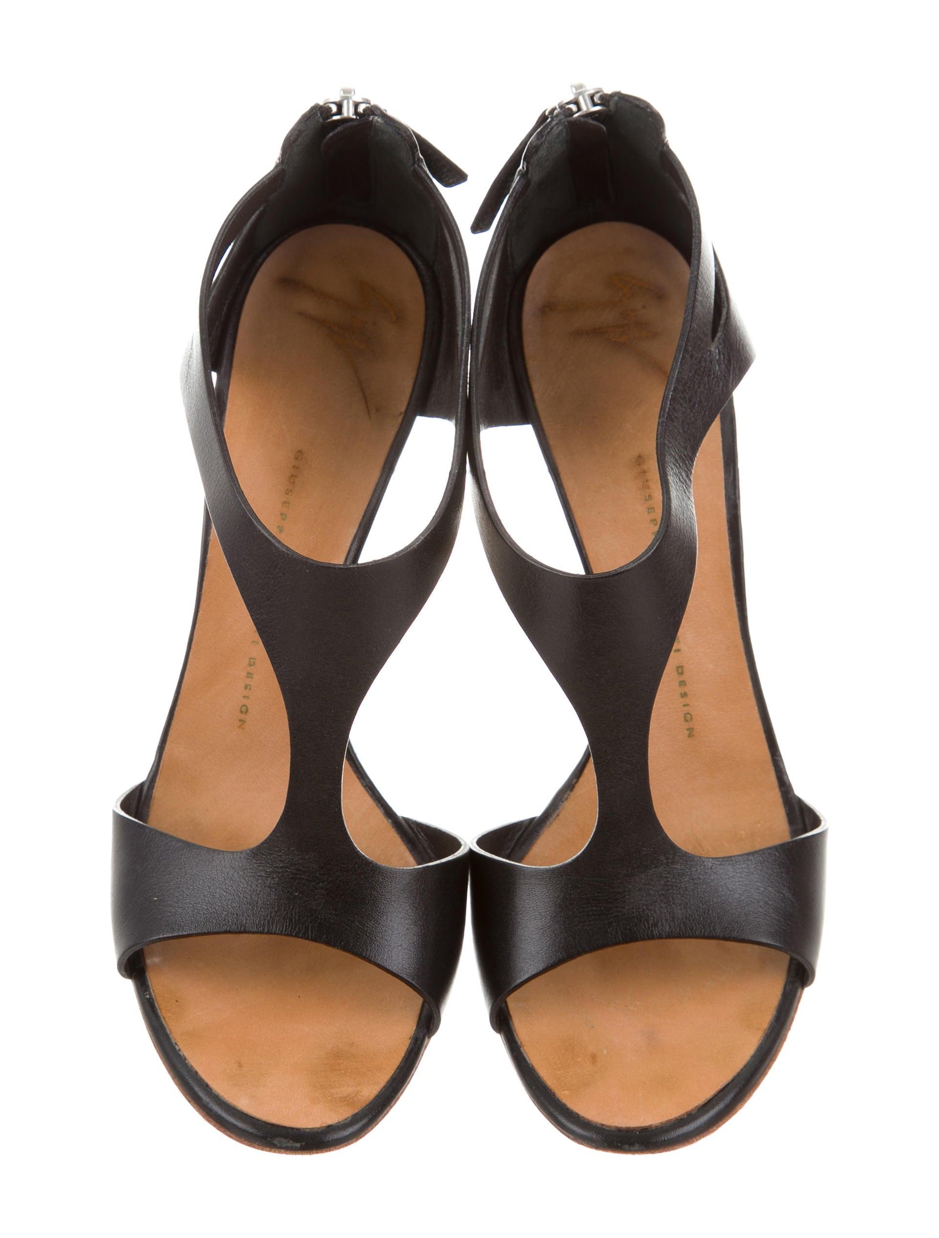 Giuseppe Zanotti Cutout Leather Sandals - Shoes