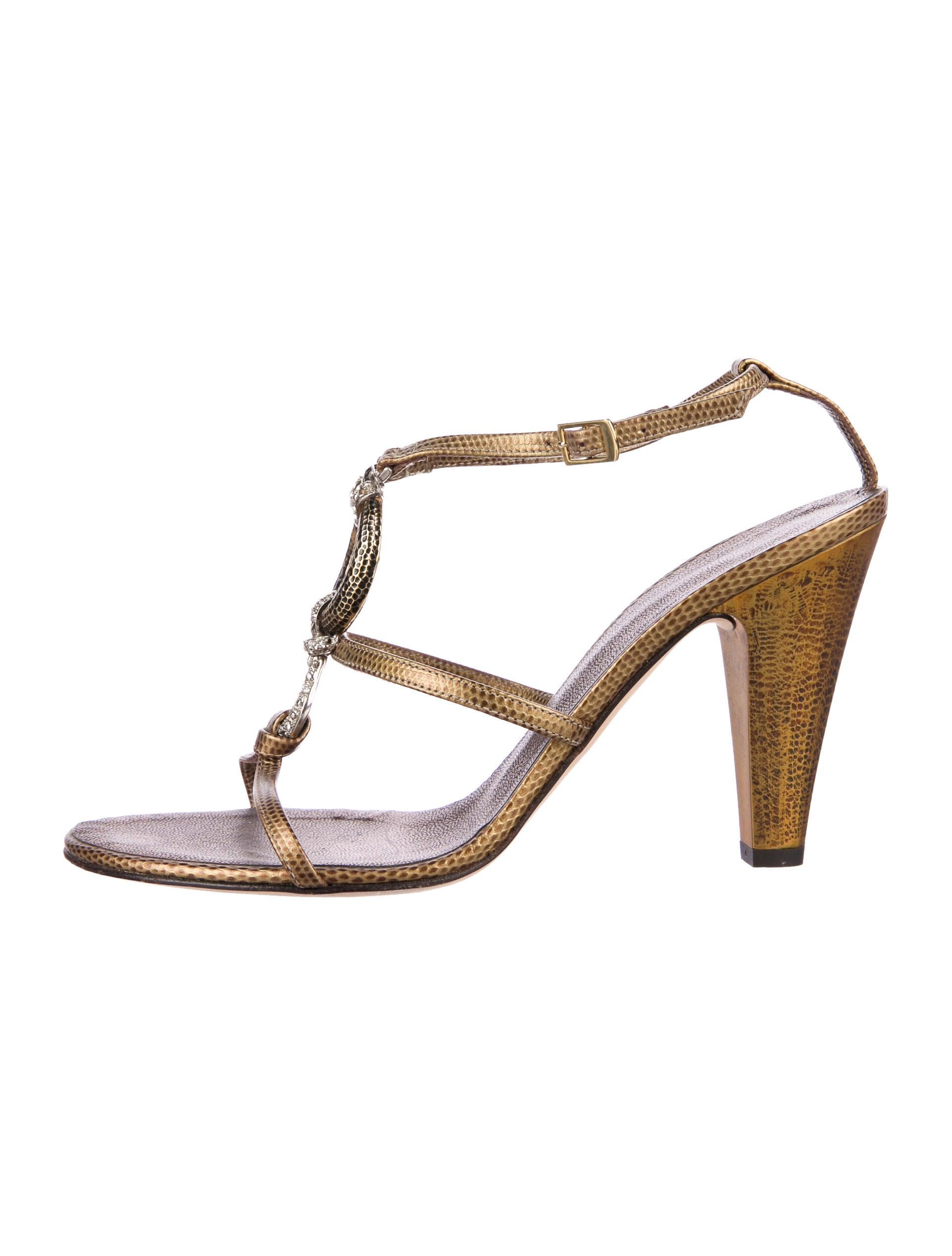 from china cheap price in China cheap online Giuseppe Zanotti Embellished Lizard Sandals KOvZG3jJM