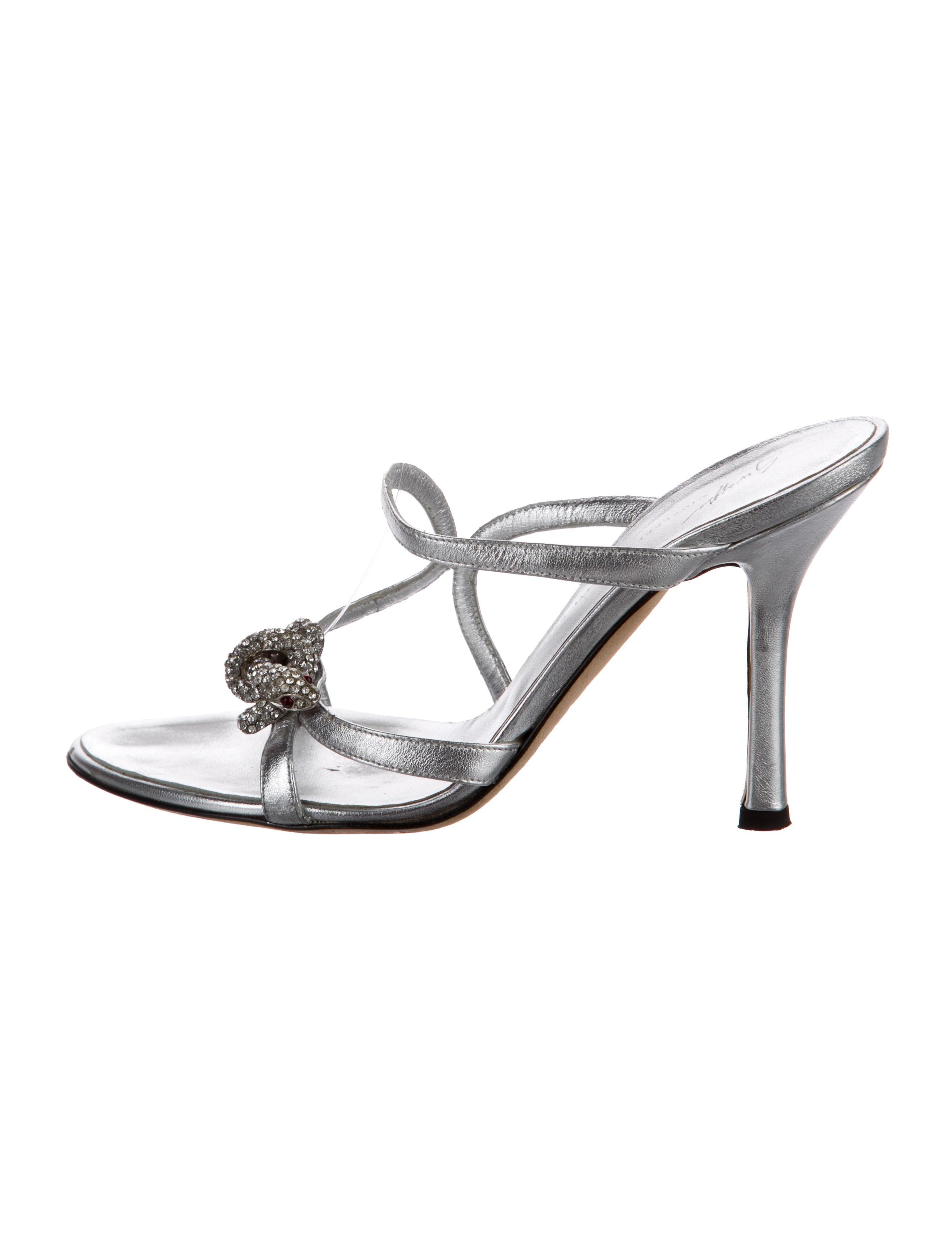 Giuseppe Zanotti Tak Leather Slide Sandals for sale cheap online LwsVlkv