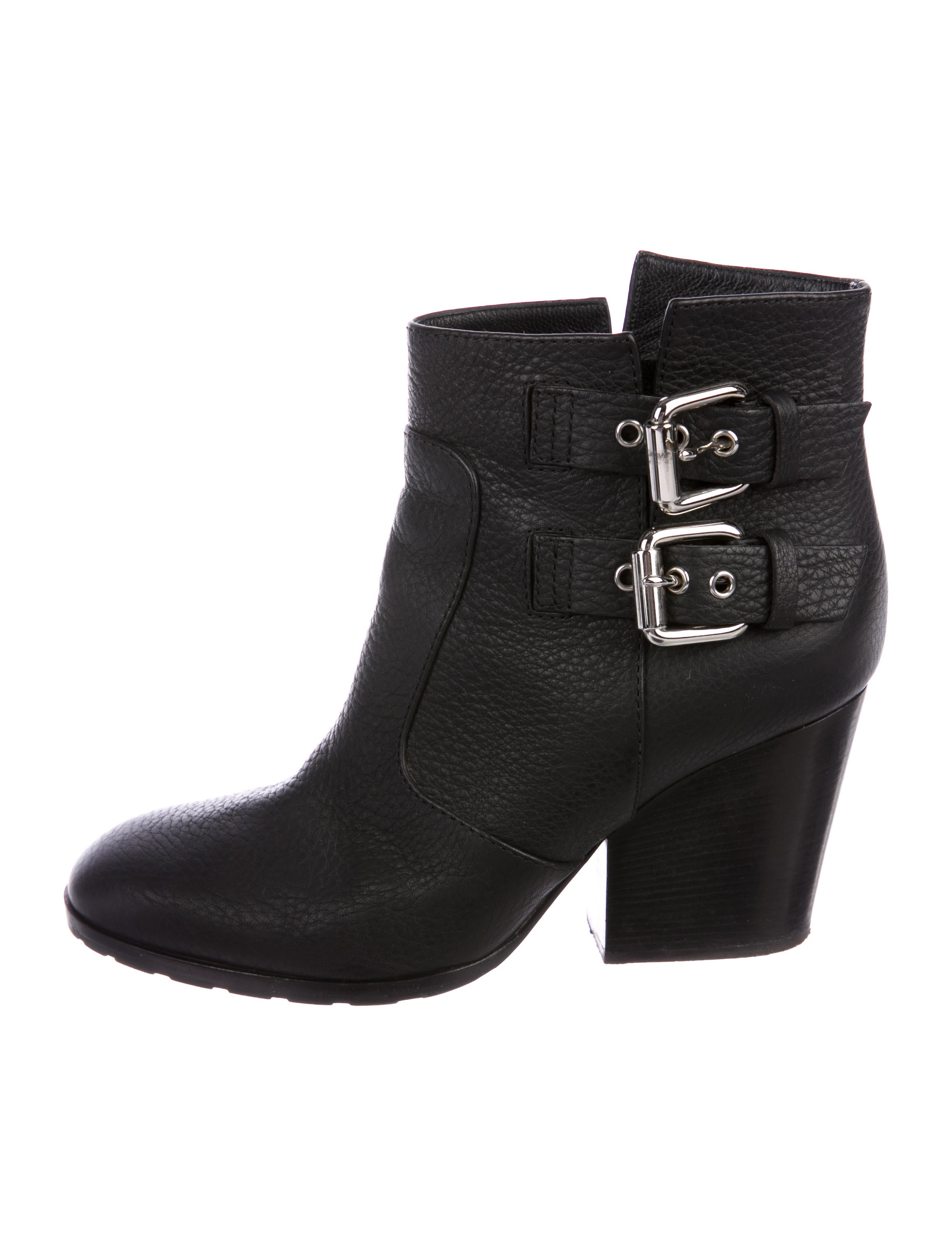 Women · Shoes; Giuseppe Zanotti Leather Buckle-Embellished Ankle Boots. Leather  Buckle-Embellished Ankle Boots