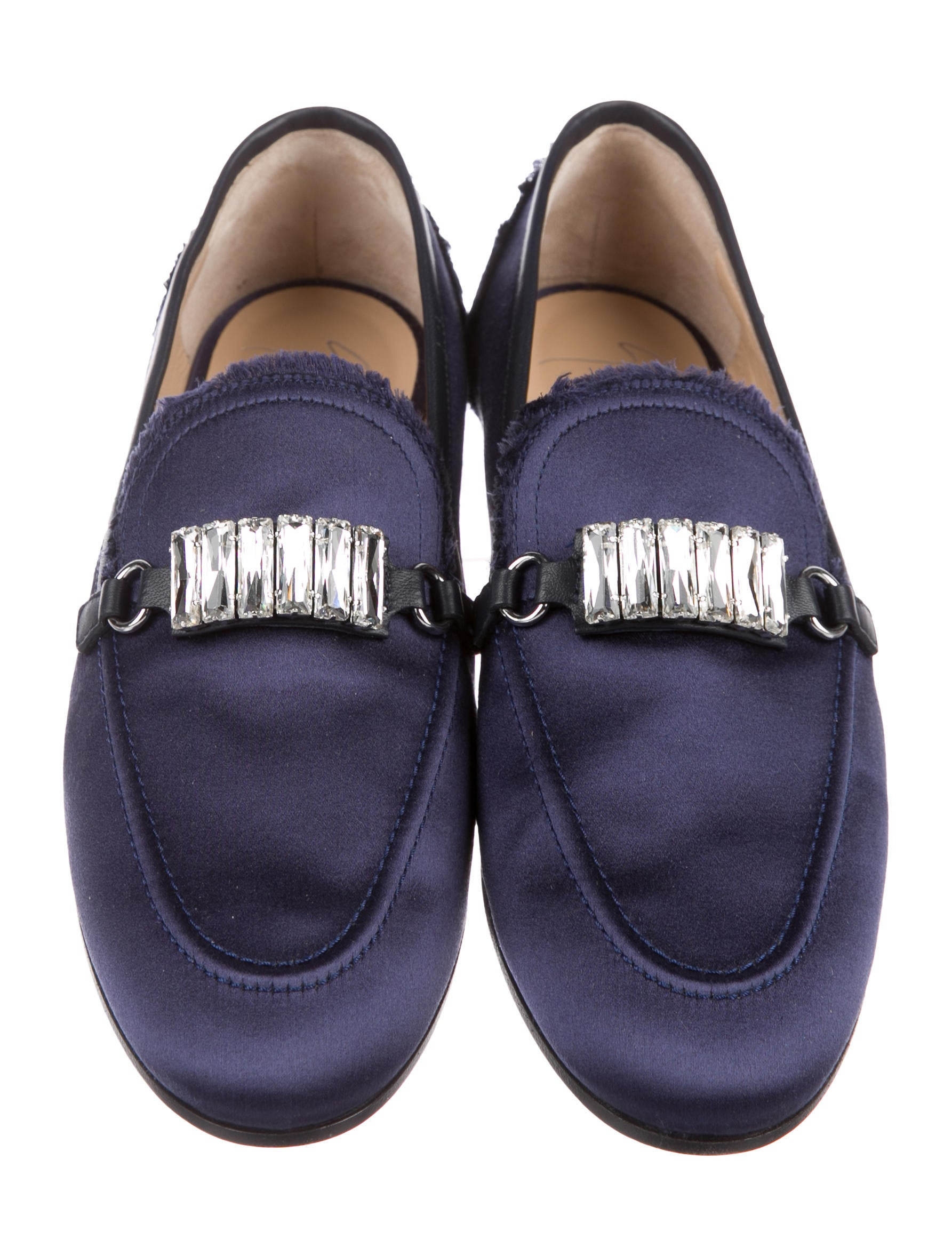 factory outlet cheap price Giuseppe Zanotti Letizia Satin Loafers w/ Tags clearance for nice store sale online best cheap price 5IlPfc4PK