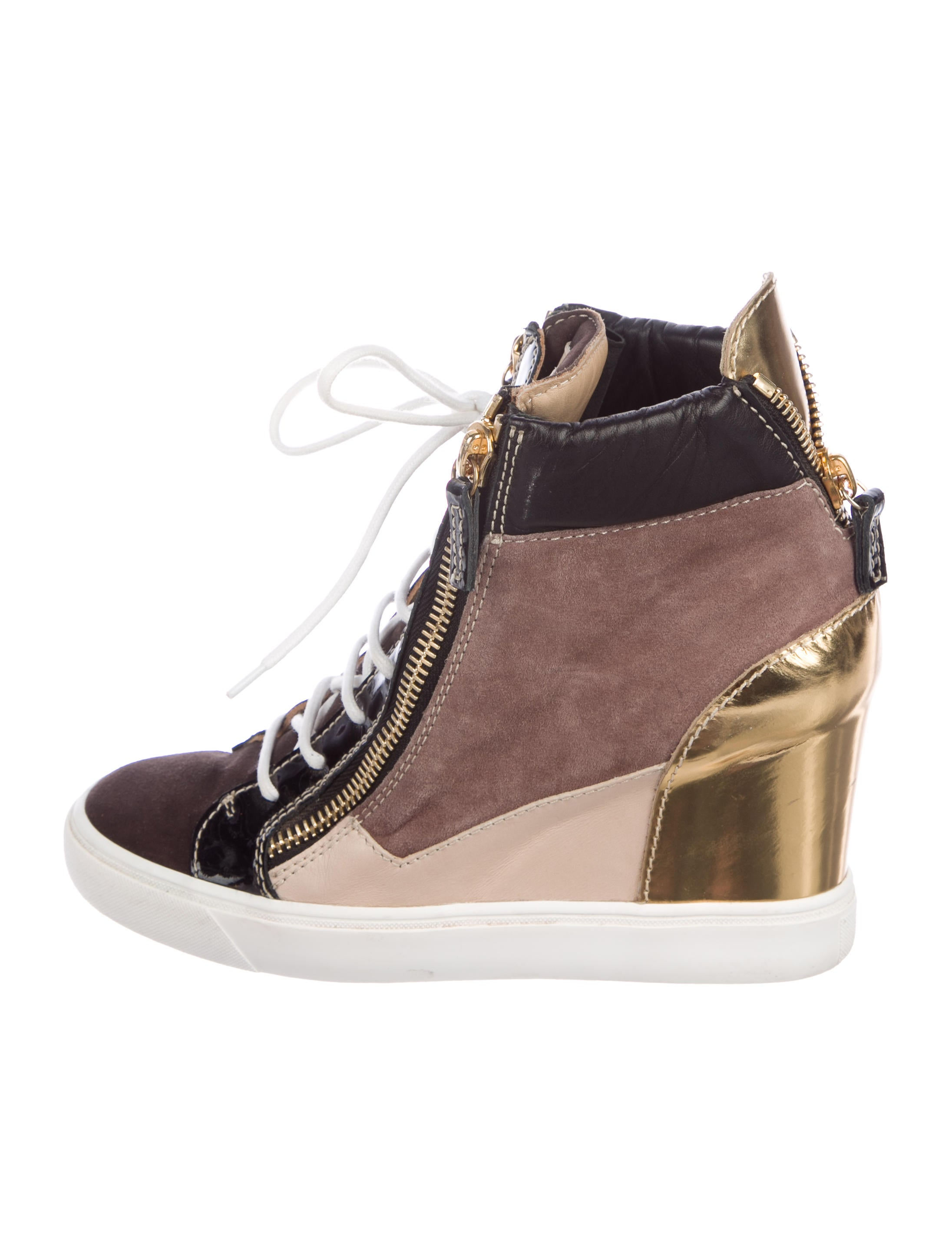 Giuseppe Zanotti Lorenz 75 Patchwork Sneakers perfect outlet big sale gHS8Q7