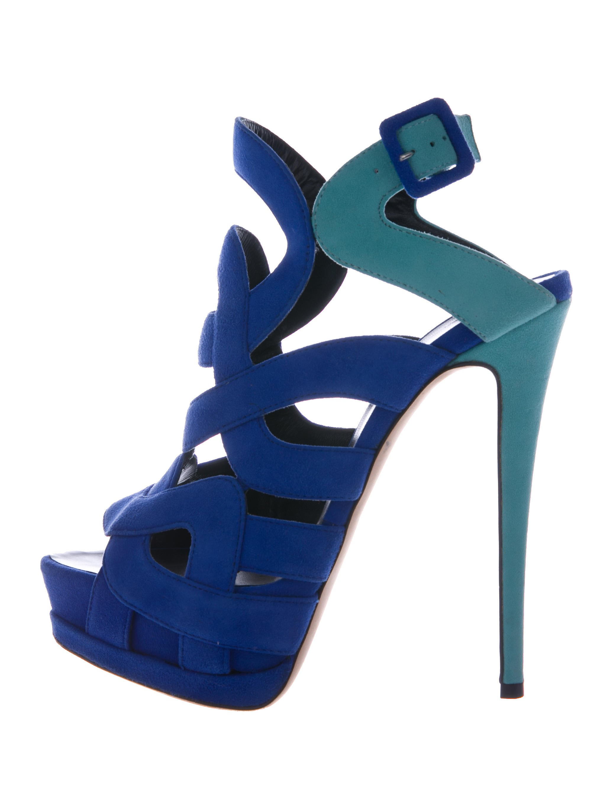 latest collections online Giuseppe Zanotti Bicolor Caged Sandals clearance pictures cheap footlocker finishline clearance good selling UmQoIMJLtf
