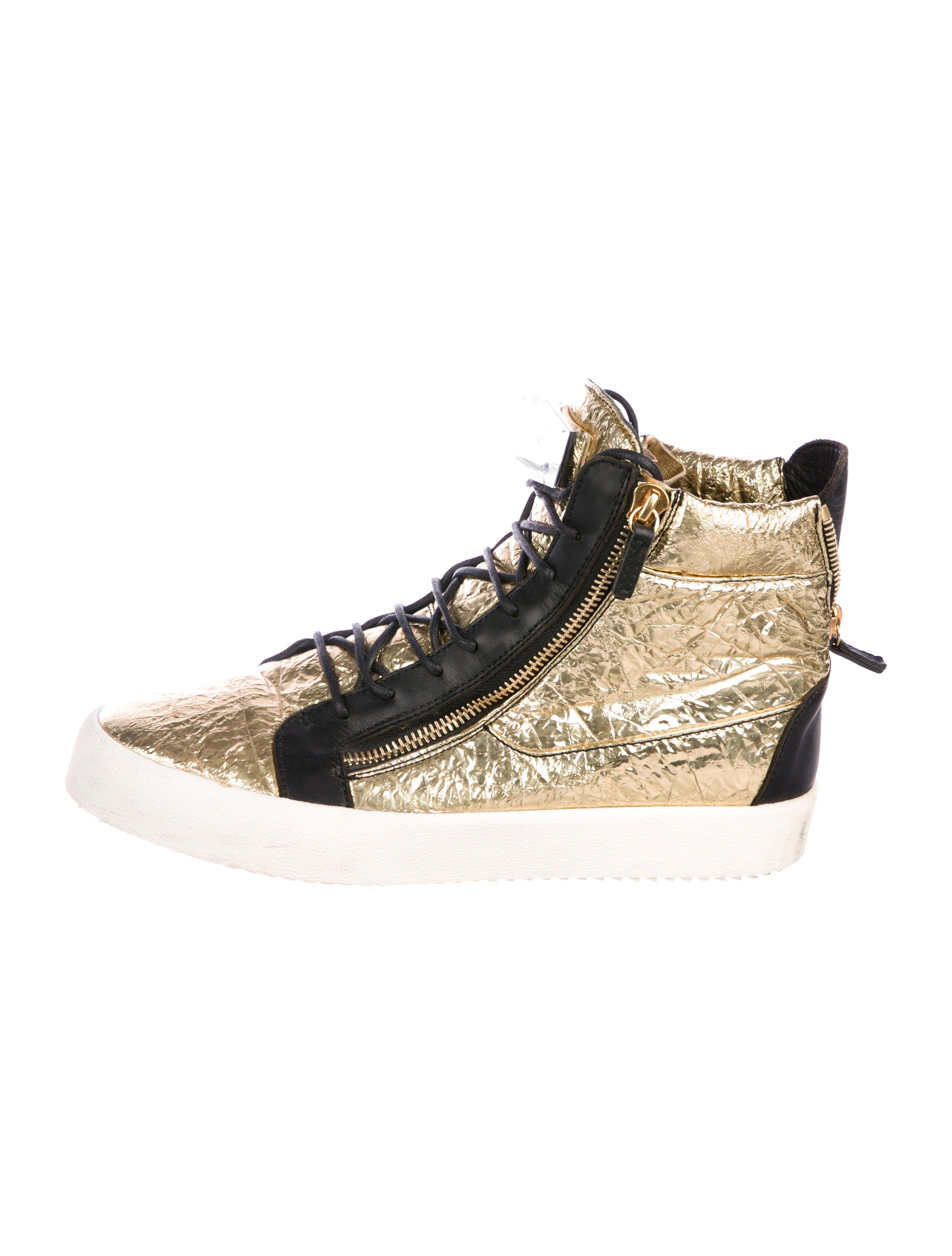03bc399dc9e03 Giuseppe Zanotti Metallic Foil Sneakers - Shoes - GIU47685 | The ...