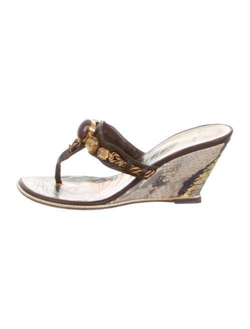cc92379ff90 Embellished Wedge Sandals