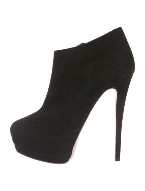 Giuseppe Zanotti Suede Platform Boots Black