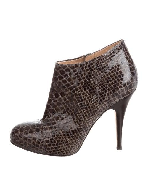 Giuseppe Zanotti Snakeskin Boots Black