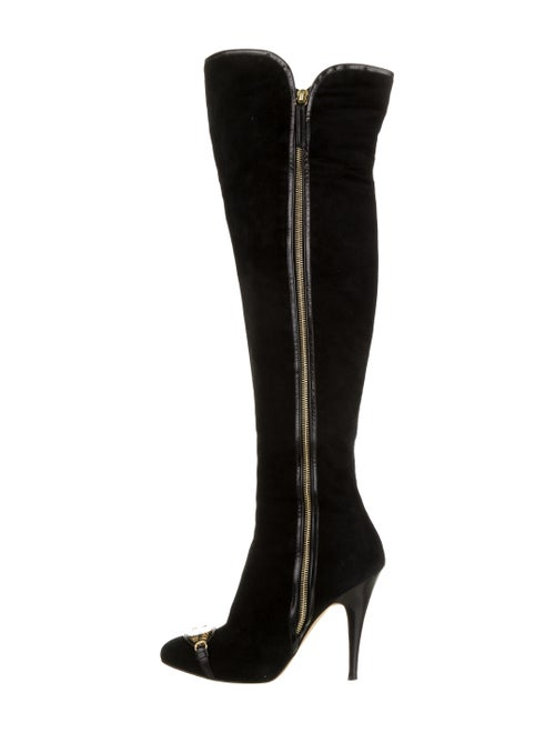 Giuseppe Zanotti Over-The-Knee Suede Boots Black