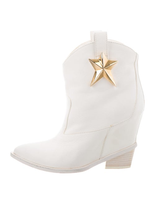 Giuseppe Zanotti Leather Boots White