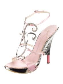 Giuseppe Zanotti Leather Printed T-Strap Sandals