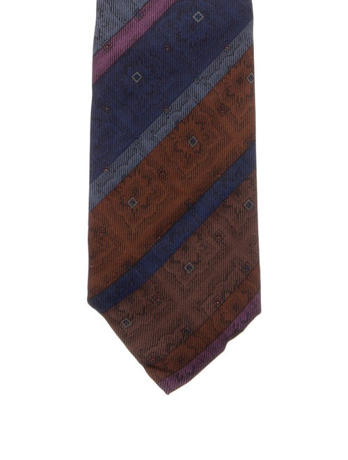 Givenchy Silk Printed Tie brown - image 1