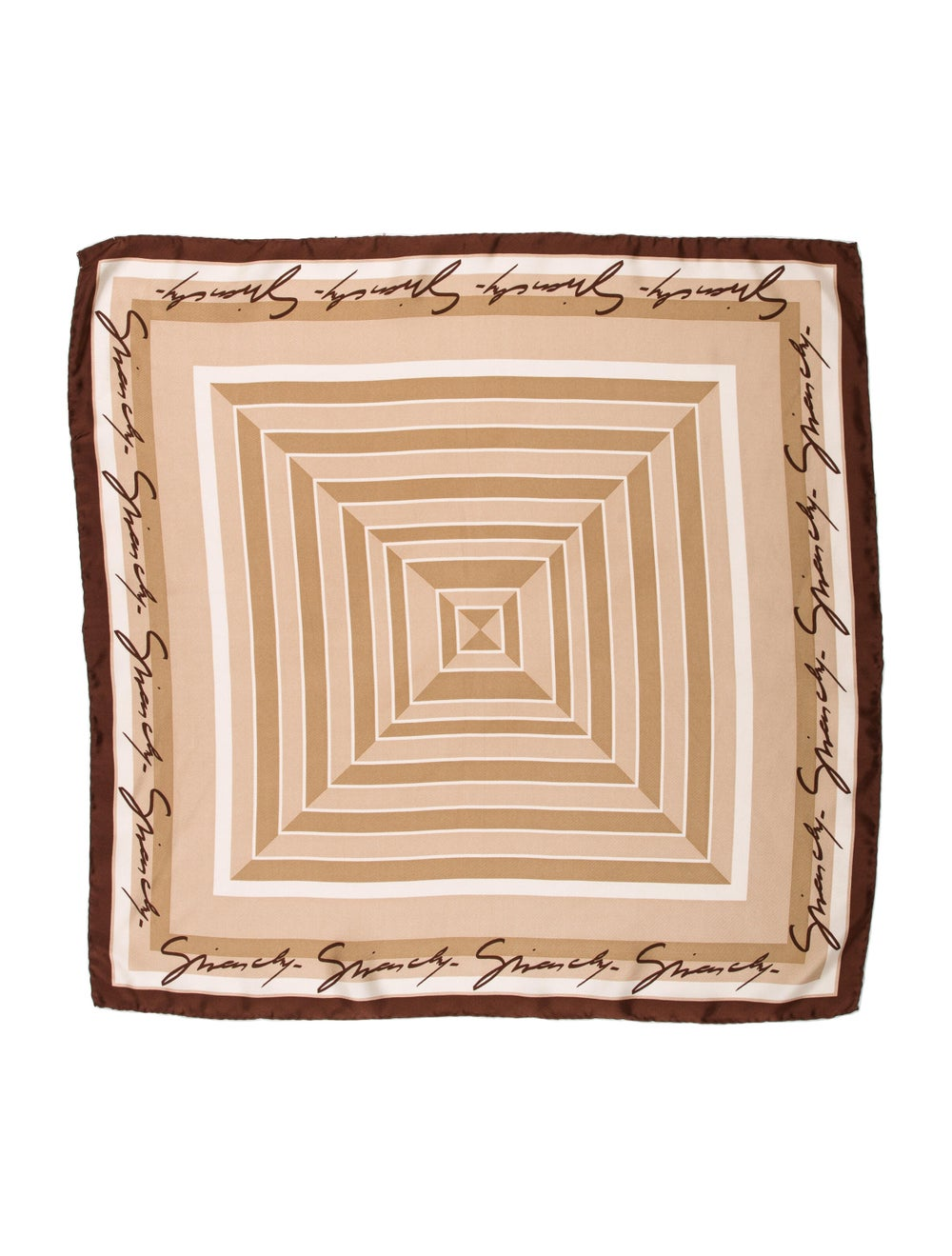 Givenchy Silk Printed Scarf Brown - image 1