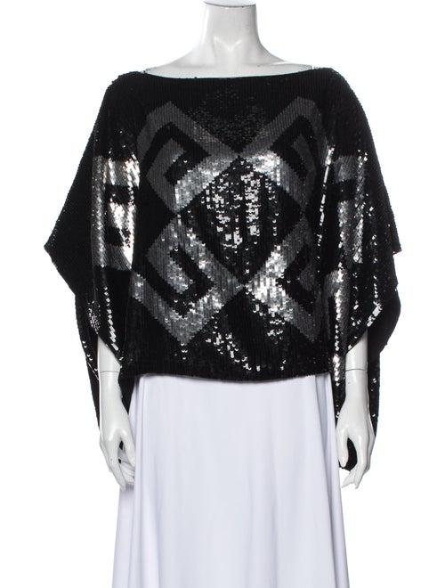 Givenchy Silk Printed Blouse Black - image 1