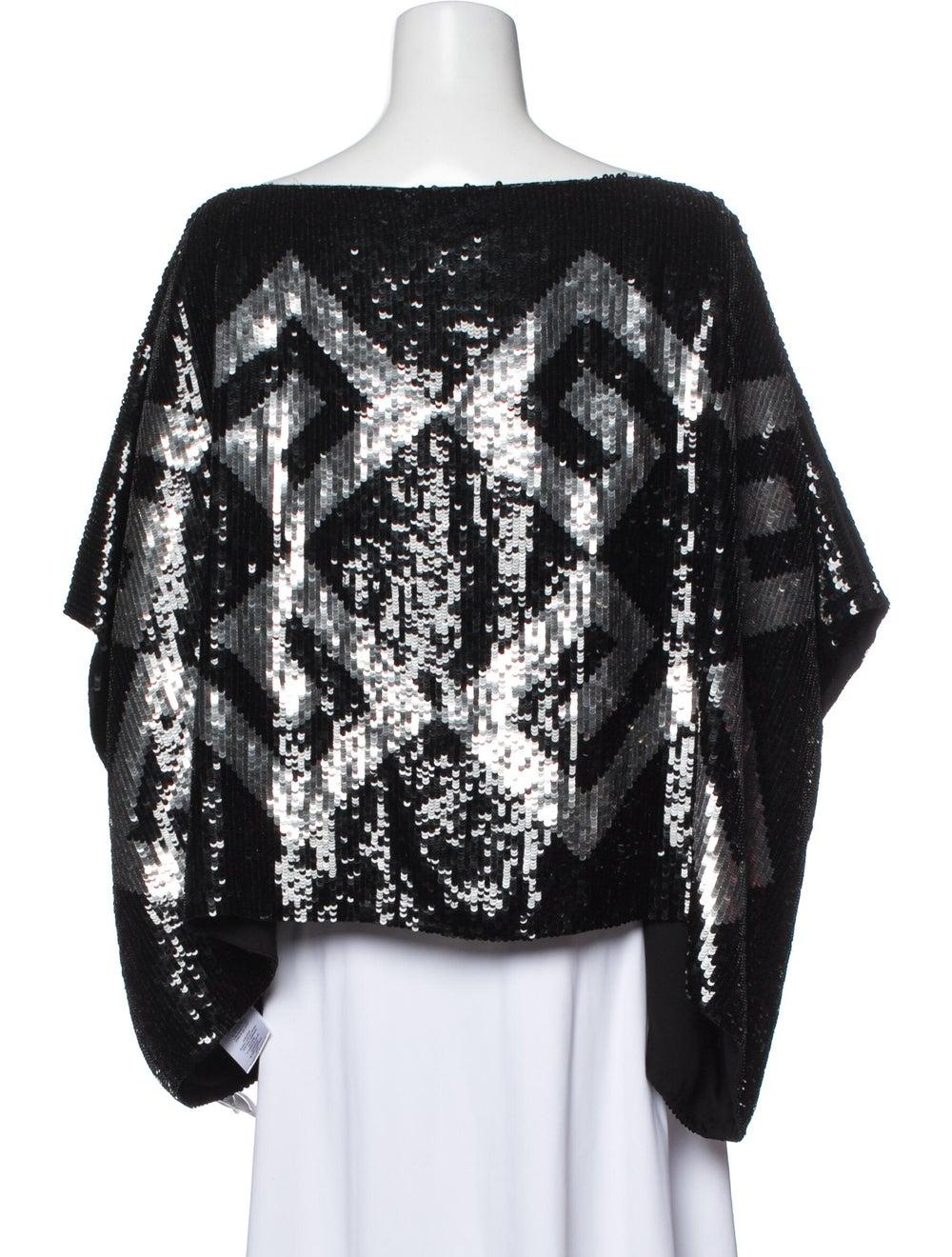 Givenchy Silk Printed Blouse Black - image 3