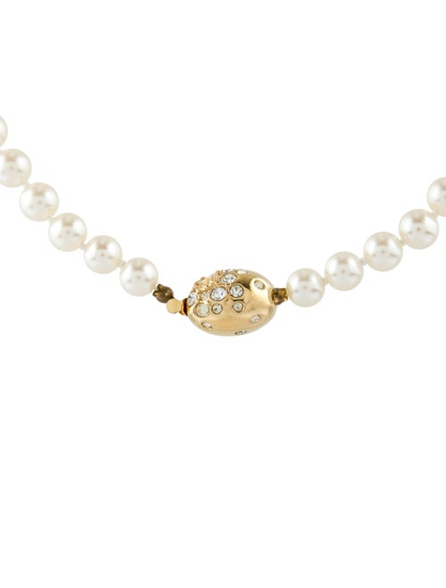 Givenchy Vintage Crystal & Faux Pearl Bead Strand