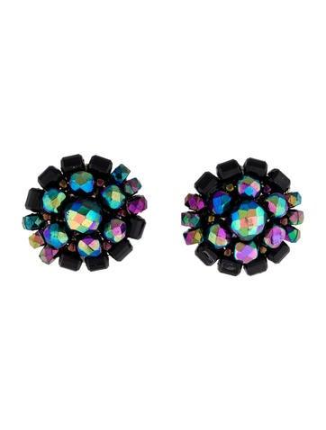 Fluorescent Bead Earrings
