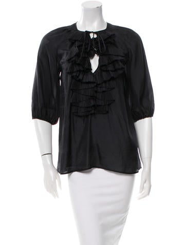 Givenchy Ruffled Silk Top None