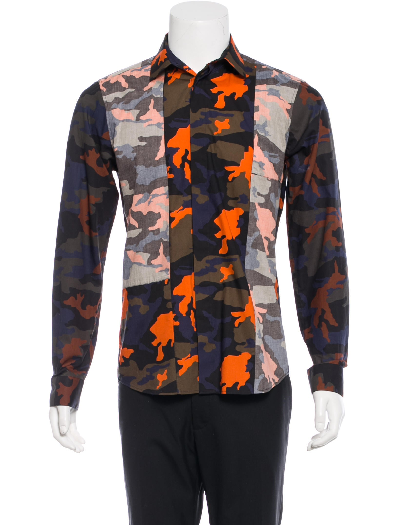 Givenchy Camouflage Button Up Shirt Clothing Giv27901