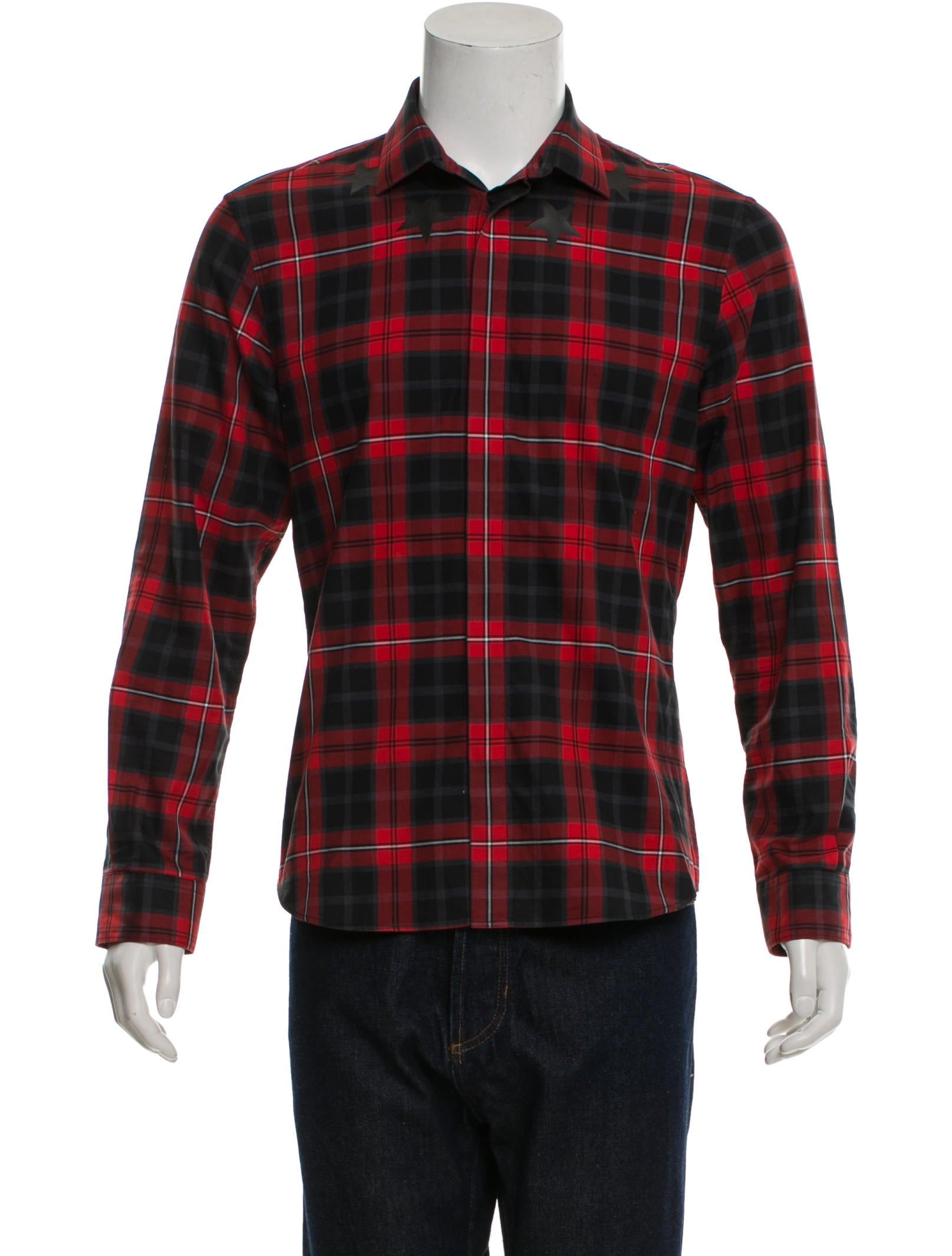 3e7a6d99035a Givenchy Plaid Star Button-Up Shirt - Clothing - GIV28825