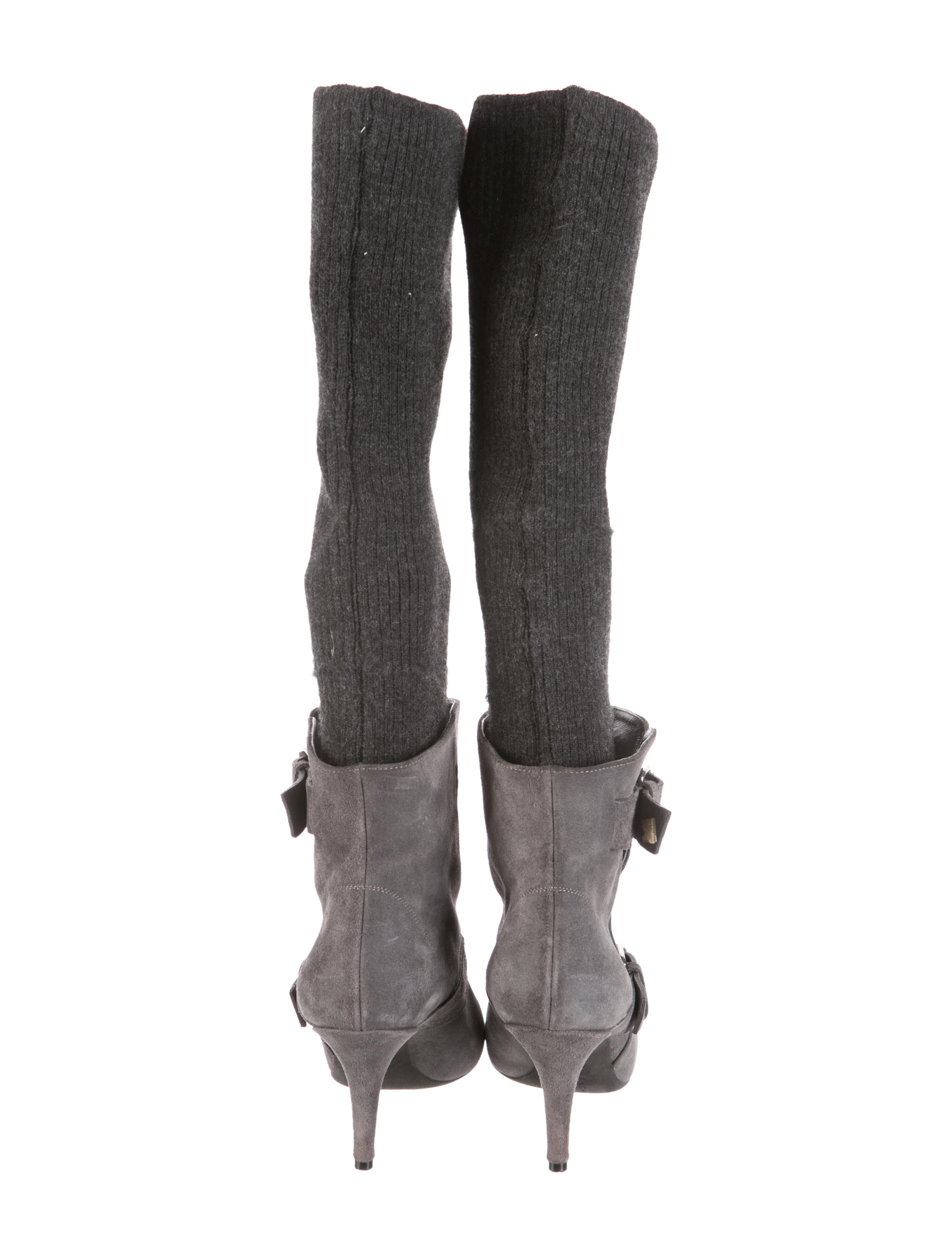 givenchy knit cuff knee high boots shoes giv29624